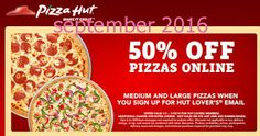 Pizza Hut Coupons Ends of Coupon Promo Codes MAY 2020 ! Enjoy your moments of life in Pizza Hut. Try Pizza Hut, one of the world's lar. Pizza Coupons, Love Coupons, Grocery Coupons, Print Coupons, Free Printable Coupons, Free Printables, Pizza Hut Coupon Codes, Order Pizza Online, Dollar General Couponing