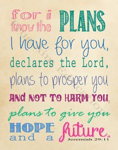 Jeremiah 29 11 free Printable - click through to download a copy without watermark