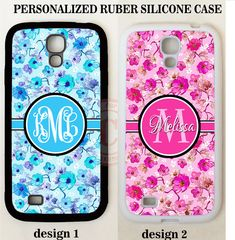 BLUE PINK FLORAL FLOWERS MONOGRAM PHONE Case For Samsung Galaxy S8 S7 NOTE 8 5 #UnbrandedGeneric