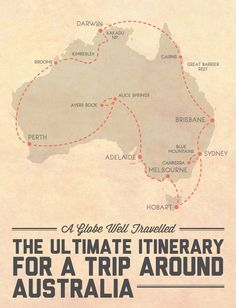 The ultimate itinerary for a trip around - visits every capital city and all 8 states and territories, and includes 4 road trips and 6 of the best national parks / natural wonders Australia has to offer! Click through for the detailed itinerary. Great Barrier Reef, Oh The Places You'll Go, Places To Travel, Roadtrip Europa, Visit Australia, Australia Trip, Australia Honeymoon, Australia Holidays, Melbourne Australia