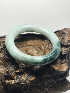 Excited to share this item from my #etsy shop: 53.8mm Round Apple, Emerald, Imperial Green Authentic Untreated Burmese Grade A Jadeite Bangle/Imperial Jade/Jade Bangle/Lucky Stone/MOJ0022 White Jade, Jade Green, Emerald Green, Imperial Jade, Lucky Stone, Chakra Jewelry, Jade Bracelet, Jade Ring, Protection Stones