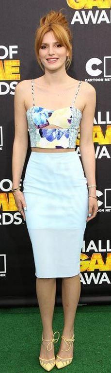 Bella Thorne: Shirt and skirt – Bec & Bridge  Shoes – Bionda Castana