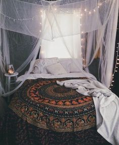Mosquito hanging net cool way to decor