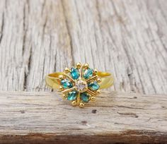 Emerald Stone RingSilver Ring Xmas by TheEthnicJewels on Etsy