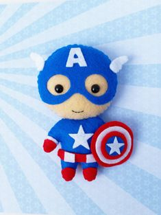 Marvel Superhero Avengers Captain America Iron Man by BobeenaShop