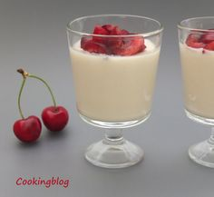 Cooking: Almond Cream with Cherries