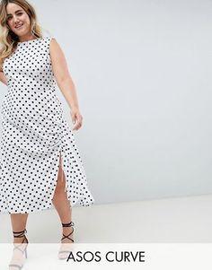 ASOS DESIGN Curve sleeveless maxi dress in polka dot Asos Curve 2a53f86ff4b2