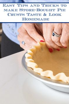 If you don't have time for a scratch pie crust, we've got a few tricks and tips for delicious and beautiful homemade store-bought pie crusts! #storeboughtpiecrust, #easypiecrust, #storeboughtpiecrustlikehomemade via @cafesucrefarine Pastry Recipes, Pie Recipes, Dessert Recipes, Easy Pie Crust, My Pie, Sweet Pie, Homemade Pie, No Bake Pies, Pie Cake
