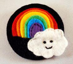 A happy rainbow brooch