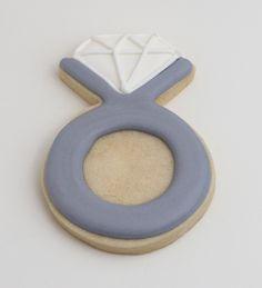 Engagement ring cookies, Engagement party cookies, proposal cookies, wedding cookies by Sweetness