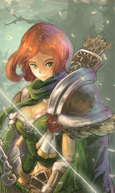 #Dota2 Lyralei the Windrunner,Dota,фэндомы,песочница