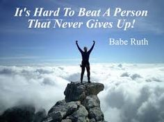 It is hard to beat a person that never gives up!  Want to see how well you are currently doing with your nutritional habits? Get your FREE No Obligation Wellness Evaluation TODAY! www.WellnessScore.co.uk