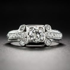 .38 Carat Art Deco Diamond Engagement Ring - Vintage Engagement Rings