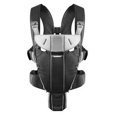 82fc34f1eed BabyBjorn Miracle Baby Carrier - Black Silver Baby F