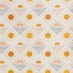 Wallpaper We Love nature themed removable wallpaper: Geo Sun Removable Wallpaper, Urban Outfitters ( Nursery Wallpaper, Of Wallpaper, Pattern Wallpaper, Surface Pattern Design, Pattern Art, Best Removable Wallpaper, Temporary Wallpaper, Textures Patterns, Print Patterns