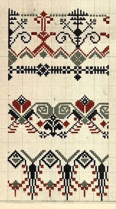 Latvian band designs What a great site! Information about Latvian costumes, embroidery, etc. Cross Stitch Borders, Cross Stitch Samplers, Cross Stitch Designs, Cross Stitching, Cross Stitch Patterns, Folk Embroidery, Cross Stitch Embroidery, Embroidery Patterns, Embroidery Sampler