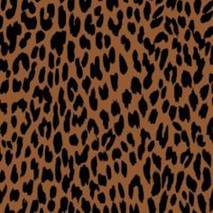 Remember this for Anna: Camelot Cottons House Designer - Black and Tan - Leopard in Cognac and Black, at Hawthorne Threads