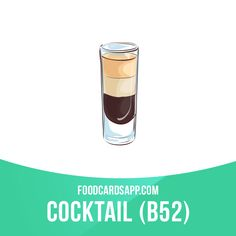The B-52 cocktail is a layered shot composed of a coffee liqueur, an Irish cream, and a Grand Marnier. When prepared properly, the ingredients separate into three distinctly visible layers. #b52 #cocktail #cocktails #drink #drinks #alcohol #beverage #beverages #english #englishlanguage #englishlearning #learnenglish #studyenglish #language #vocabulary #dictionary #vocab