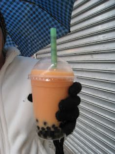 My first ever bubble tea was cantaloupe. The next one at Londonderry wasnt so great :( BBQ sauce