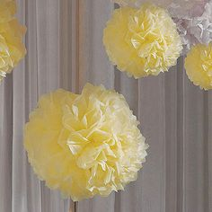 "Here's a simple and inexpensive way to add a punch of color and texture to your wedding ceremony, parties, events or wedding reception decor with these tissue paper ""Celebration Peonies"". Suspend over"