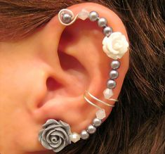 Cartilage Ear Cuff Wedding Bridal Prom Non Pierced Forever Beautiful Conch Helix Quinceanera