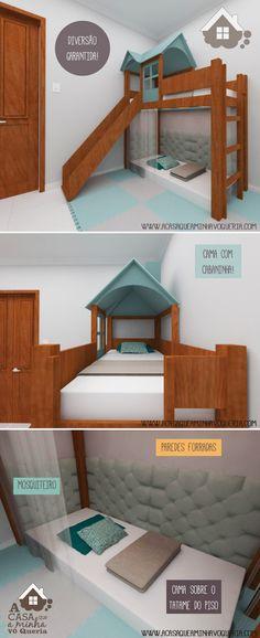 O projeto da cama para o quarto dos nossos filhos