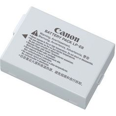 Canon LP-E8 Battery Pack for Canon Digital Rebel T2i and T3i Digital SLR Cameras (Retail Package) by Canon. $45.00. The Canon LP-E8 Rechargeable Lithium-ion Battery Pack has a capacity of 1120mAh, making it possible to shoot many photographs with your Canon EOS Rebel T2i, T3i or T4i digital camera on a single battery charge. The battery is also compact and lightweight. There is no memory effect, so you can recharge partially drained batteries without reducing perform...