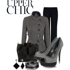 the upper chic attire...