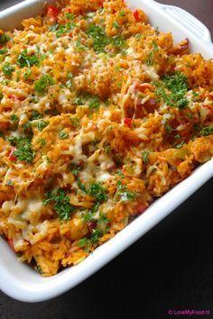 Rijst met kip en chorizo uit de oven