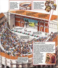 THE ROMANS (LATER ADAPTED BY THE GREEKS) ARE CREDITED WITH DESIGNING THE FIRST PUBLIC 'AMPHITHEATER' -- HISTORICALLY PROFOUND, THIS ARCHITECTURAL ACHIEVEMENT LATER BECAME A STAPLE COMPONENT OF NEARLY ALL THRIVING CULTURES!