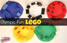 Toddler Approved!: Olympic Fun: LEGO Ring Sorting