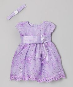 Take a look at this Lilac Ribbon Dress & Headband - Infant & Toddler by Shanil on #zulily today!