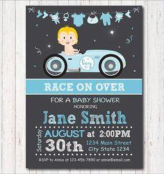 Race Car Baby Shower Invitation Race Car party Race Car