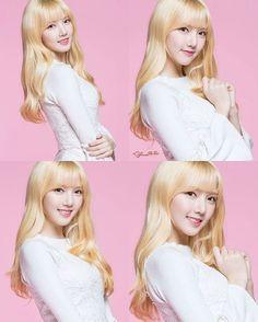 "135 Beğenme, 1 Yorum - Instagram'da ^ YUJU'S EYE SMILE 😄 (@officialyuju): ""[PIC] 170526 - Photos of #Yerin for Lensnine  _ I will miss her blonde hair 😘 ©GfSquad.com  _ #여자친구…"""