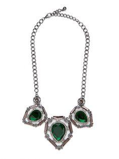 BAUBLE BAR emerald necklace