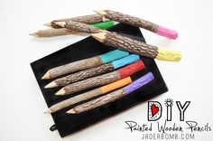 Painted Wooden Pencils
