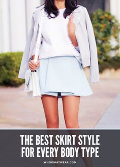 A guide to finding the most flattering skirt style for your body. // #style #styletips #skirts