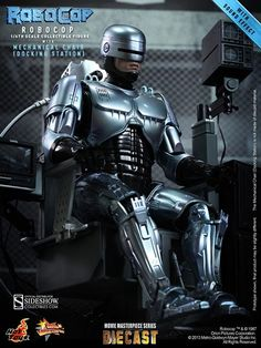 RoboCop with Mechanical Chair Sixth Scale Figure - Hot Toys - SideshowCollectibles.com