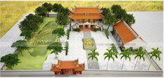 Tổng thể khuôn viên công trình nhà thờ họ 2 tầng 8 mái tại Bắc Giang