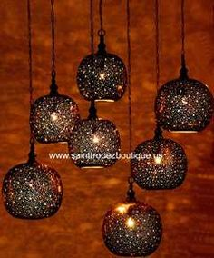 Photo of Moroccan Pendant - Available in Polished brass, light antique, dark Antique, Nickel