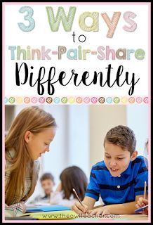 3 Ways to Think-Pair-Share Differently Think-Pair-Share does not have to be the only strategy that you use in your classroom to engage students and assess them! Check out these 3 strategies to help your students think-pair-share differently! Cooperative Learning Strategies, Teaching Strategies, Teaching Tips, Teaching Reading, College Teaching, Avid Strategies, Creative Teaching, Instructional Coaching, Instructional Strategies
