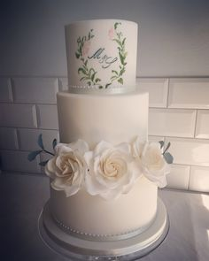 Home - Hannah Hickman Cakes Painted Monogram, Hand Painted, Sugar Flowers, Wedding Cakes, Desserts, Design, Wedding Gown Cakes, Tailgate Desserts, Deserts
