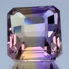 Handmade Faceted Loose Gemstone Ametrine Purple Yellow Octagon 7.88 Ct.Jewelry Supplies