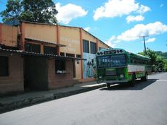 The buses are abundant in El Salvador and run everywhere -- all the time and come in a variety of bright colors.