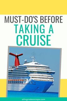 Booked a cruise? Now do these 11 Things you must do to prepare for your cruise to ensure you have the best cruise experience possible! Packing List For Cruise, Cruise Tips, Cruise Vacation, Vacation Trips, Vacations, Cruise Destinations, Amazing Destinations, How To Book A Cruise, Honeymoon Spots