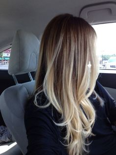 An ombre look works perfectly well when you choose a much lighter color for the tip. In this case, try a white blonde color or ashy platinum for a sexy hair color.