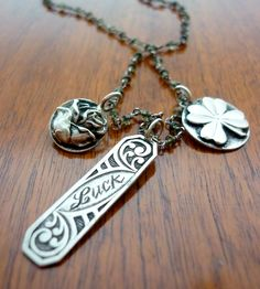 Silver Lucky Charm Necklace