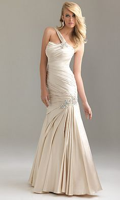 NM-6441 : Long One Shoulder Formal Dress by Night Moves