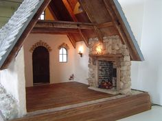 Storybook Cottage 1/4 scale, stones for fireplace
