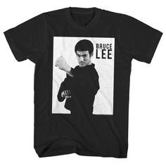 Licensed Photo White Bruce And Black Shirt T Lee Shirts Officially xwnwzf